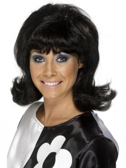 60s Flick-Up Wig - Black