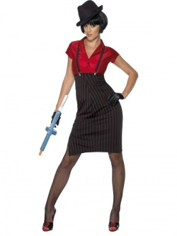 Prohibiton Gangster Lady Costume