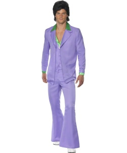 70's Male Lavender Suit Costume