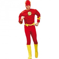 Costume of Flash With Deluxe Muscle Chest