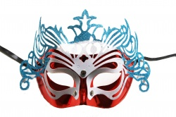 Dragon Mask-Red With Blue Decoration