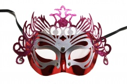 Dragon Mask-Red With Pink Details