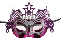 Dragon Mask-Pink With Purple Decoration