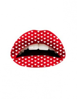 Passion Lips-Temporary Lip Tatoo-Red Hearts
