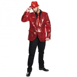 Red Sequin Sparkling Jacket