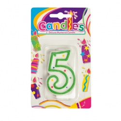 Birthday Candle With Number - 5