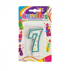 Birthday Candle With Number - 7