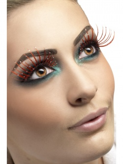 Eyelashes Red with Glitter