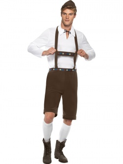 Bavarian Man Costume - Brown