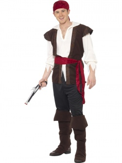 Pirate Costume - Red Headscarf