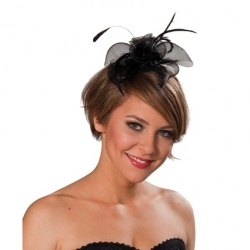 Headband with black decoration