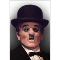 Latex Charlie Chaplin Mask - Deluxe
