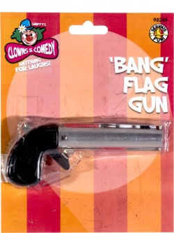 Bang Gun Silver and Black With Flag