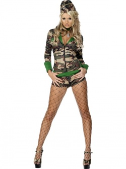 Fever Combat Chick Costume Deluxe